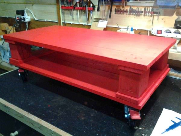 Red Pallet Coffee Table Pallet Coffee Tables