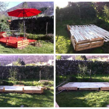Terrace Made Out Of 22 Recycled Pallets