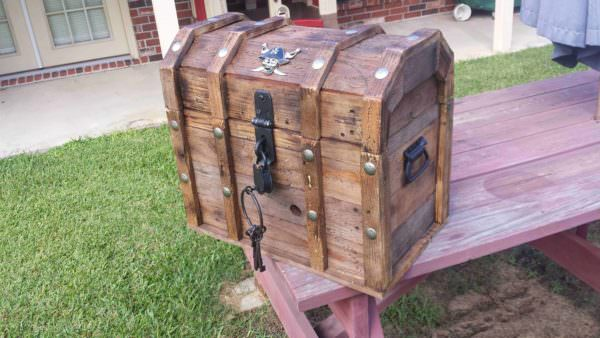 Treasure Chest Cooler From Reclaimed Pallets Pallet Boxes & Pallet Chests