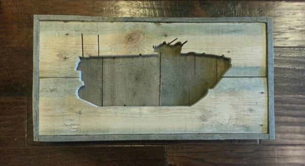 Usmc Amphibious Assault Vehicle Wall Decor From Reclaimed Pallet Pallet Wall Decor & Pallet Painting