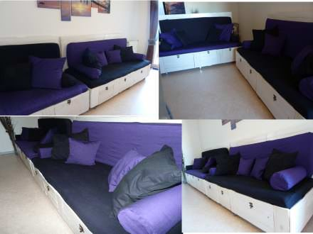 Our pallet sofa's