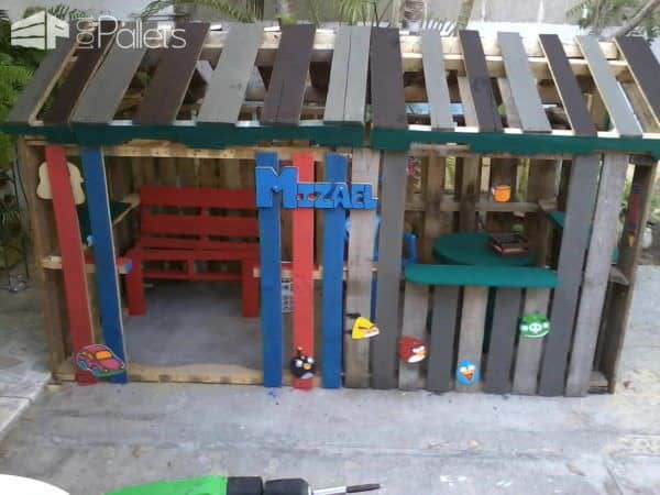 Casa De Niño Con Palettes / Kids Pallet Playhouse Fun Pallet Crafts for Kids Pallet Sheds, Pallet Cabins, Pallet Huts & Pallet Playhouses