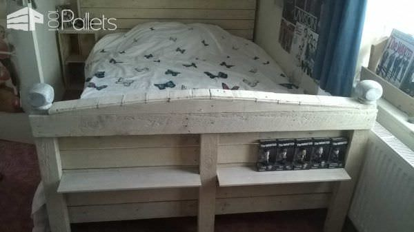 Double Pallet Bed DIY Pallet Bed Headboard & Frame