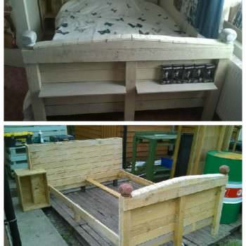 Double Pallet Bed