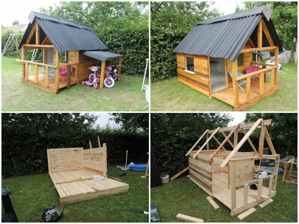 maison de jardin pour enfant pallets kids house pallet ideas 1001 pallets
