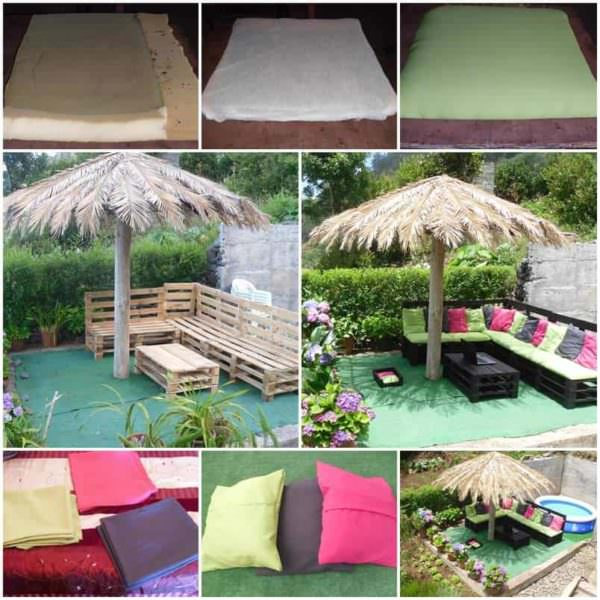 Outdoor Pallet Sofa Lounges & Garden Sets
