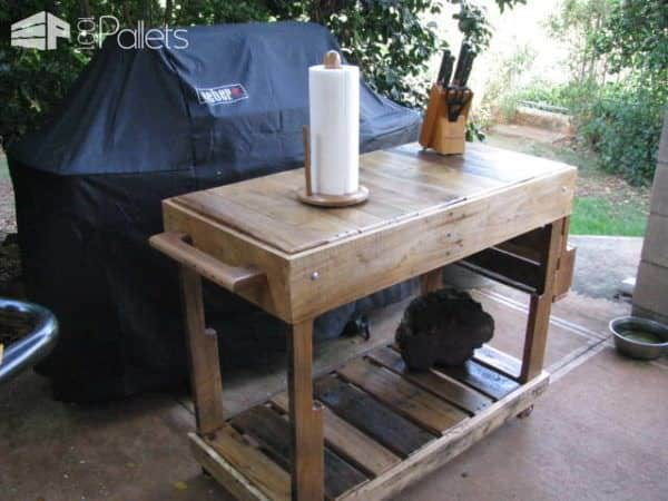 Outdoor Pallet Utility Cart DIY Pallet Furniture