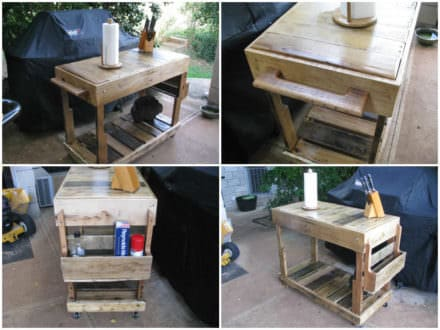 Outdoor Pallet Utility Cart