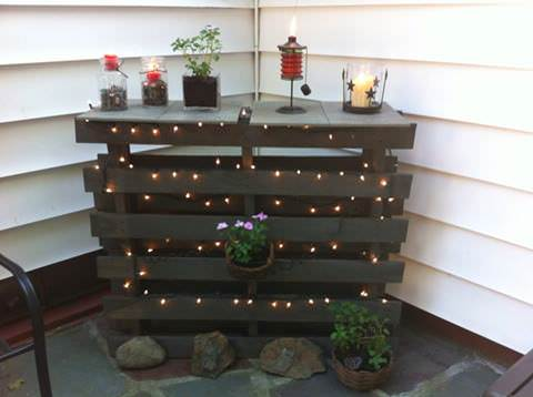 Outdoor Patio Bar / Counter DIY Pallet Bars