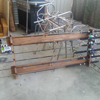 Pallet Fishing Rod Holder