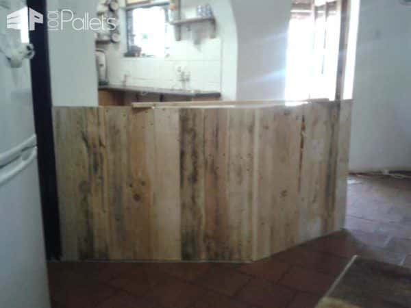 Pallet Kitchen Counter DIY Pallet Bars