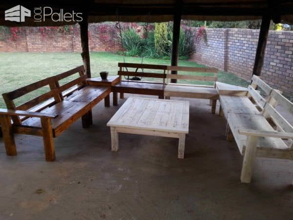 Pallet Lounge With Coffee Table Lounges & Garden Sets