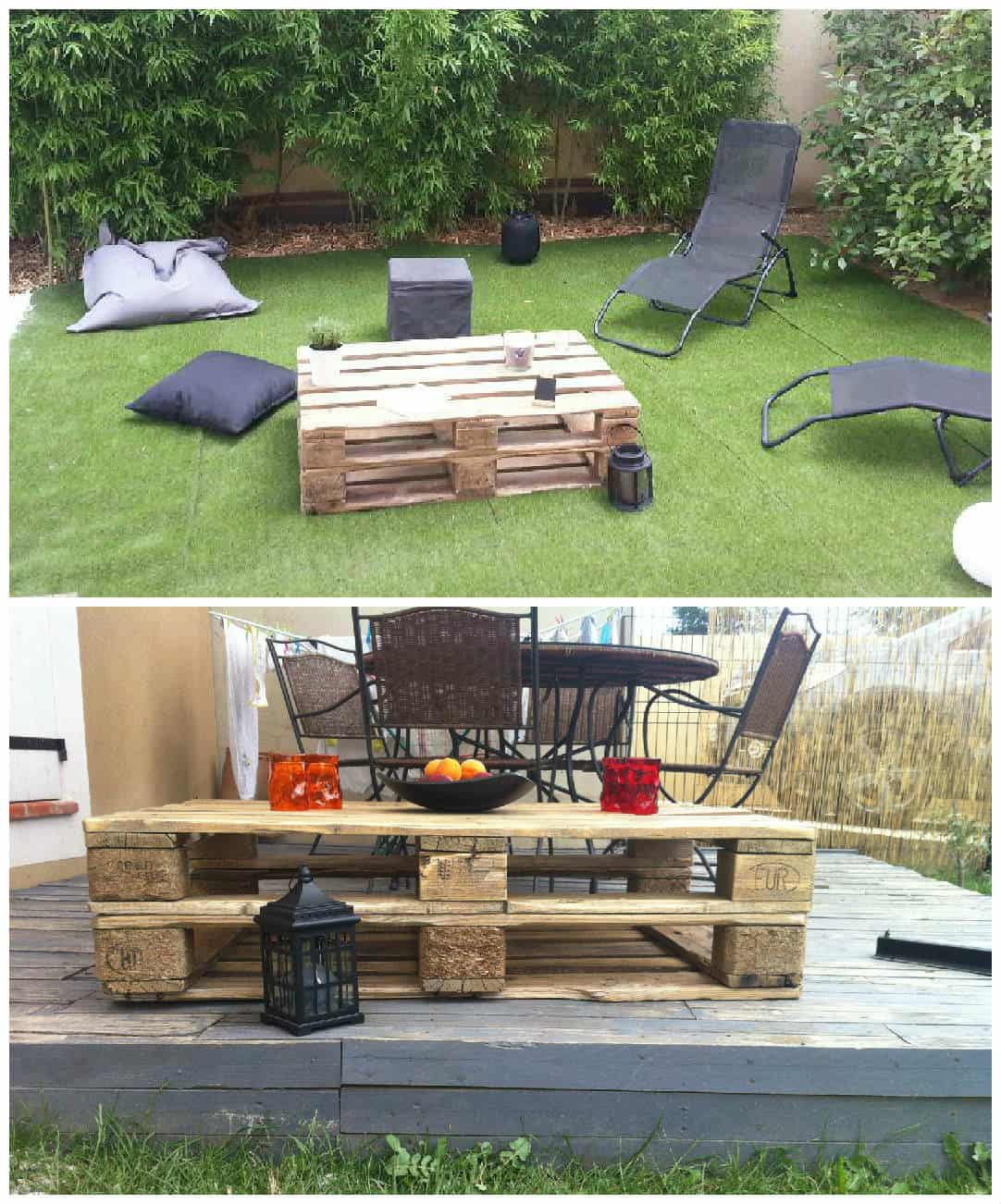 pallet outdoor coffee table pallet ideas 1001 pallets