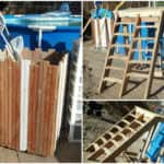 Pallet Pool Deck & Pool Supplies Caddy