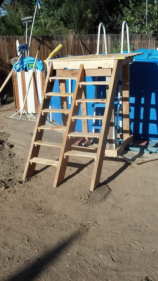 Pallet pool deck pool supplies caddy 1001 pallets for Garden pool accessories