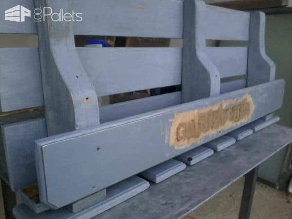 Pallet Wine Shelf Pallet Shelves & Pallet Coat Hangers