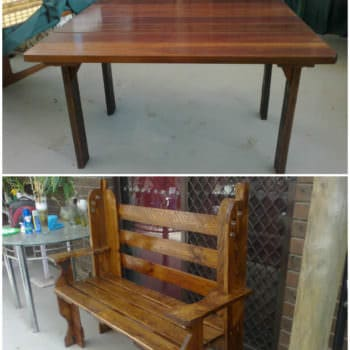 Pallets Bench & Table