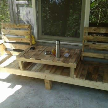 Pallets Table-bench or Bench-table, It's Up To You