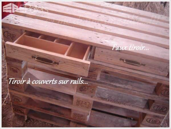 R Alisation D 39 Un Lot Central De Cuisine En Palettes Pallets Kitchen Island Pallet Ideas
