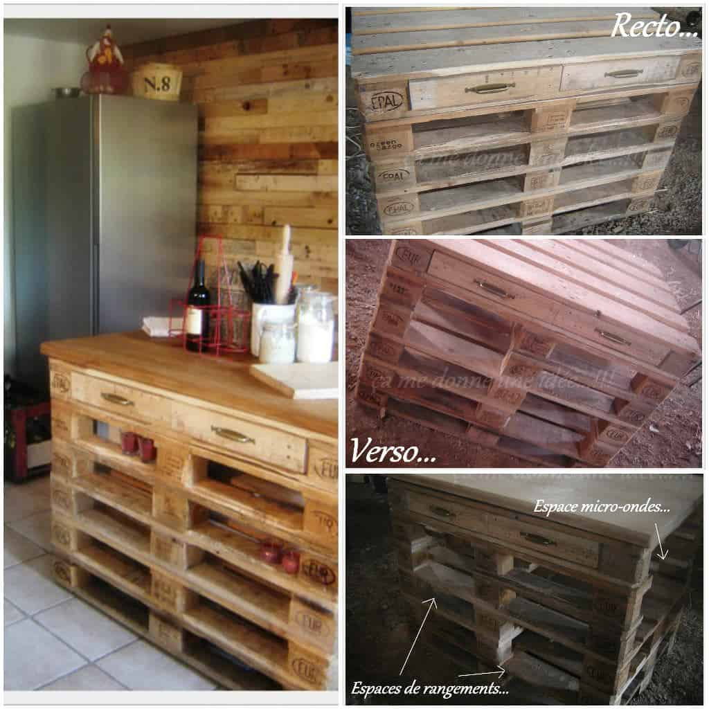 r alisation d 39 un lot central de cuisine en palettes pallets kitchen island 1001 pallets. Black Bedroom Furniture Sets. Home Design Ideas