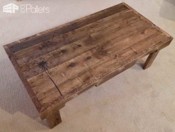 Redeemed Pallet Table with dandelion art 01