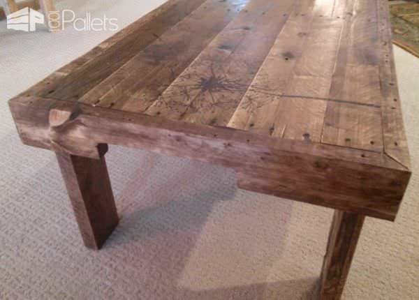 Redeemed Pallet Table with dandelion art 02