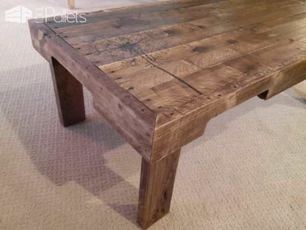 Redeemed Pallet Table With Dandelion Art Pallet Coffee Tables