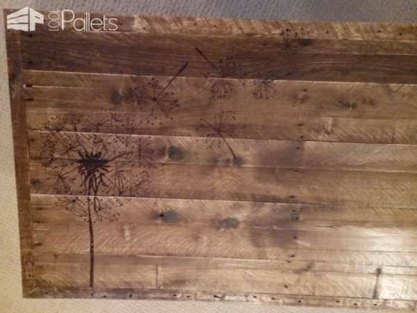 Redeemed Pallet Table with dandelion art 04