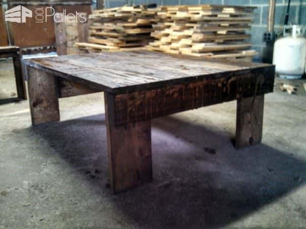Simple medium sized coffee table made from pallets 1001 for Coffee tables you can sit on