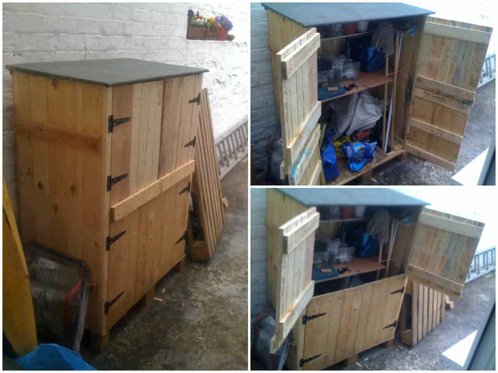 Small tools shed made from recycled pallets 1001 pallets for Small tool shed