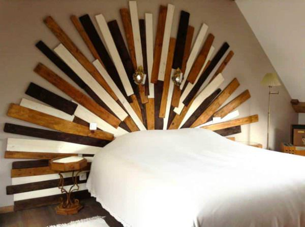 Sunny Pallet Bed Headboard DIY Pallet Bed Headboard & Frame