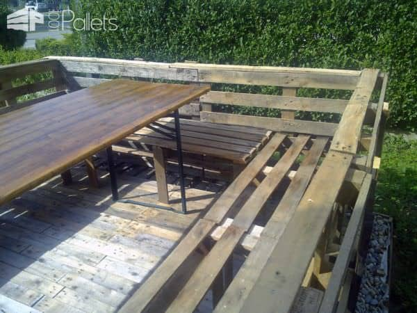 Terrace Deck Made Out Of Repurposed Pallets Pallet Floors & DecksPallet Terraces & Pallet Patios