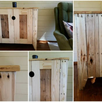 Upcycled Timber / Pallet Into Cabinet