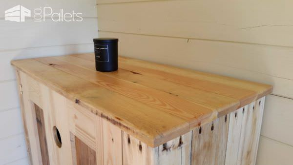 Upcycled Timber / Pallet Into Cabinet Pallet Cabinets & Wardrobes