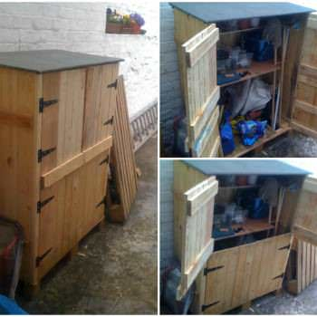 Small Tools Shed Made From Recycled Pallets