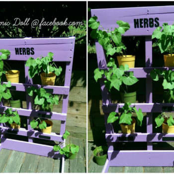 Easy DIY Vertical Pallet Garden