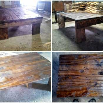 Simple, Medium Sized Coffee Table Made From Pallets