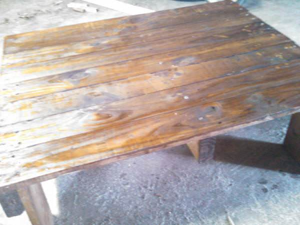 Simple, Medium Sized Coffee Table Made From Pallets Pallet Coffee Tables