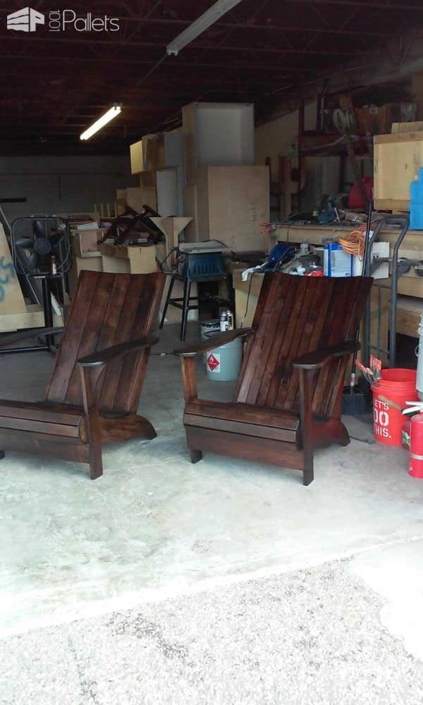 Adirondack Pallet Chairs Pallet Benches, Pallet Chairs & Stools