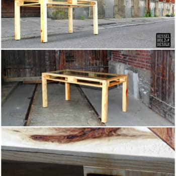 Alliance of Steel, Glass & Pallets: Kessel Desk Pallet Table