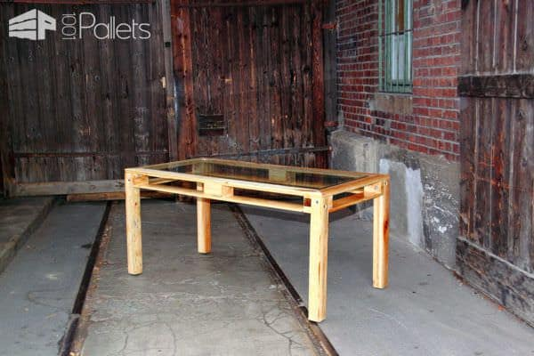 Alliance of Steel, Glass & Pallets: Kessel Desk Pallet Table Pallet Desks & Pallet Tables