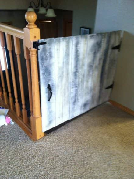 Baby Gate Made From Repurposed Pallets