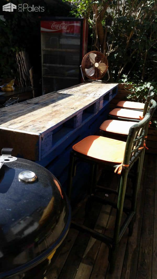 Bar De Jardin / Pallets Garden Bar