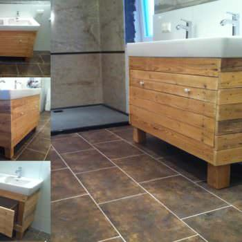 Bathroom Idea With Recycled Pallet Wood