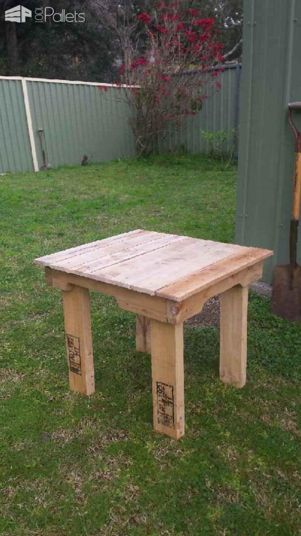 Camp Seat Side Table Pallet Desks & Pallet Tables