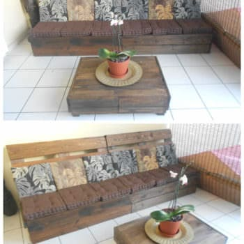 Canapé & Table Basse En Palettes / Pallet Sofa & Coffee Table