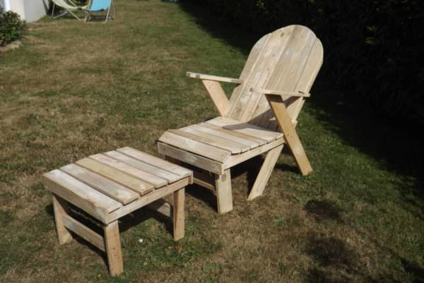 Chaise Longue / Garden Pallet Lounger Lounges & Garden Sets Pallet Benches, Pallet Chairs & Stools