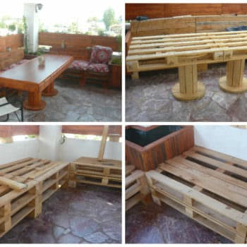 Lunch Corner Made From Discarded Pallets