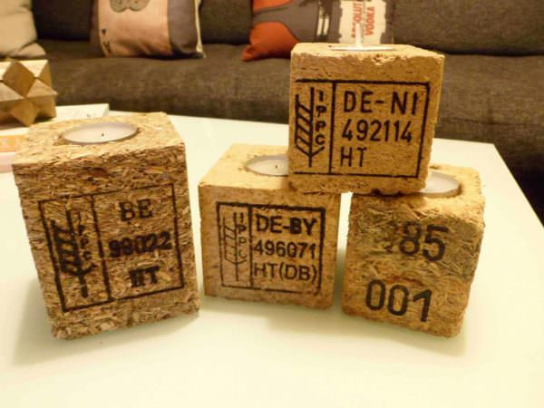 Pallet Blocks Candle Holder Pallet Candle Holders