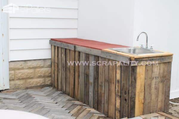 Pallet Counter DIY Pallet Bars